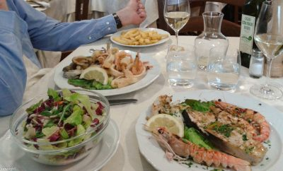 Cantanapoli seafood restaurant near Cortona