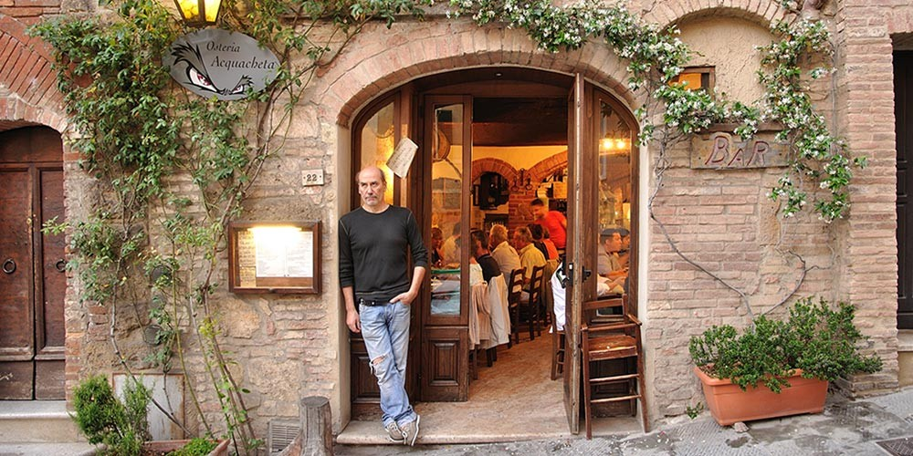 Acquacheta osteria in Montepulciano is favorite for steaks and good cheap food